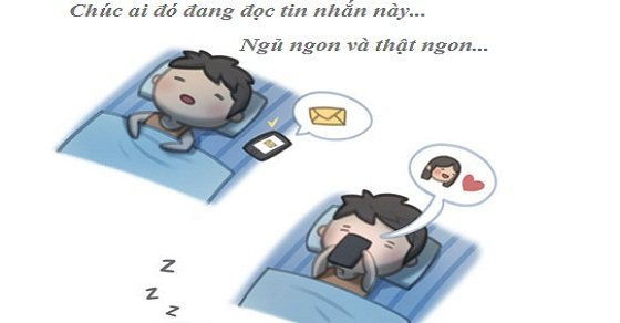 Hình chúc ngủ ngon đễ thương