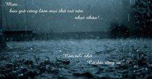 Những dòng stt mưa đêm và nỗi nhớ, stt mưa rơi nhớ người yêu buồn nhất