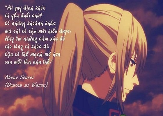 những câu nói hay thâm thía trong anime