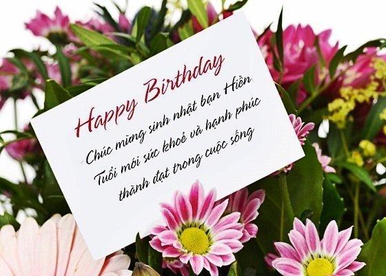 Stt chúc mừng sinh nhật bạn hay trên facebook