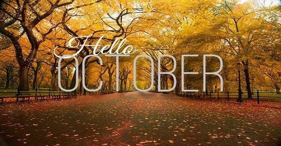 Tháng 10 đến mang theo sắc trời ngập hương thu