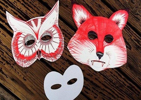 Mặt nạ bằng giấy cho mùa Halloween năm nay