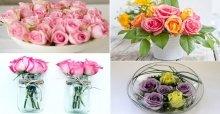 Hướng dẫn cách cắm lẵng hoa hồng đơn giản và đẹp để bàn