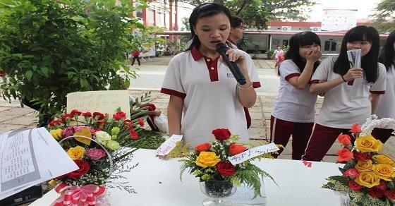 Thuyết trình cắm hoa ngày 20-11