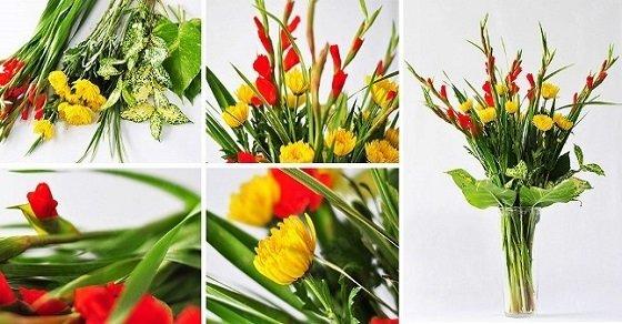 Cách cắm hoa cúc vàng để bàn thờ