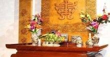 Bàn thờ gia tiên đẹp: Cách trang trí bàn thờ gia tiên ngày cưới và ngày tết