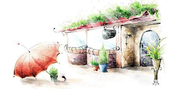 Mẫu 1_Vẽ trang trí quán trà sữa đẹp