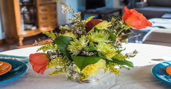 Các kiểu cắm hoa đơn giản trang trí tết