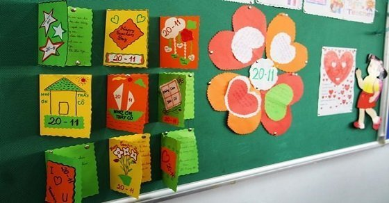 Mẫu bảng ghim 3_Trang trí lớp học ngày 20 - 11