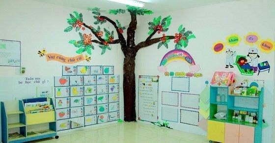 Mẫu trang trí tường 1_Cách trang trí lớp học ngày 20 -11