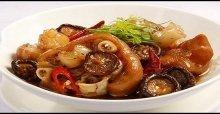 Chân giò hầm nấm ngon - Cách chế biến món thịt chân giò hầm nấm