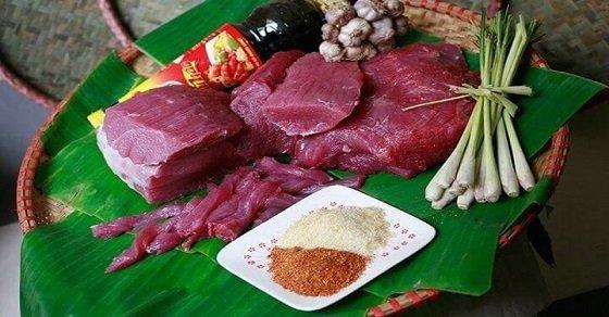 Nguyên liệu chế biến món thịt bò kho