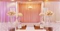Trang trí sân khấu đám cưới tại nhà đẹp đơn giản