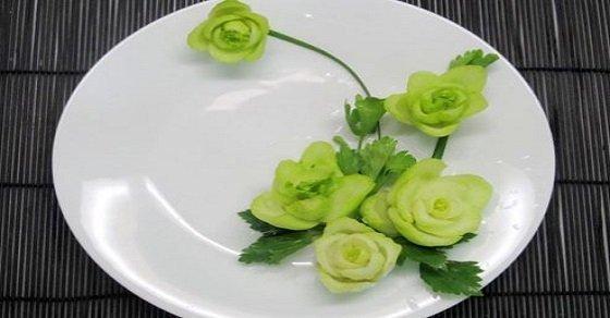 Rau cải với cách trang trí món ăn đơn giản nhất