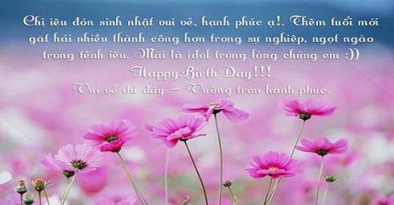 Những lời chúc mừng sinh nhật cho chị gái hay nhất và ý nghĩa