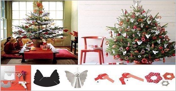 Những cách trang trí cây thông Noel với Origami