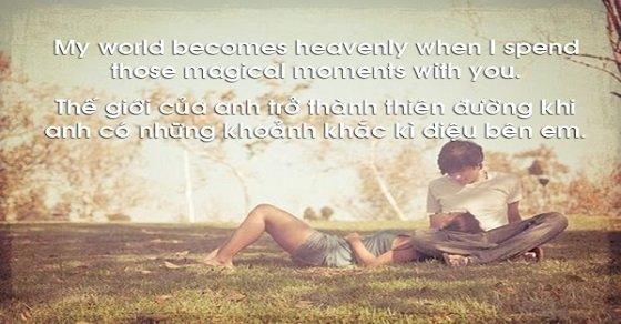 Các danh ngôn tiếng Anh về tình yêu rất thích hợp để bày tỏ tình cảm với người ấy