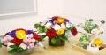 Cách cắm hoa dạng tỏa tròn đơn giản và đẹp