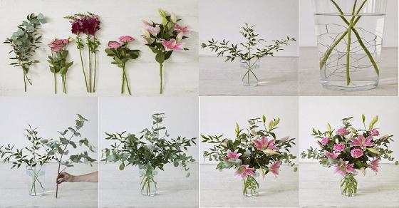 Căn phòng thêm sang trọng với cách cắm hoa lyly dạng tỏa tròn