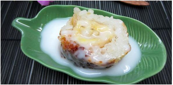 Thưởng thức món chuối nướng gạo nếp