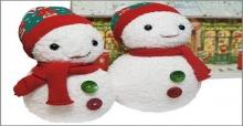 Hướng dẫn cách làm người tuyết giáng sinh handmade đơn giản