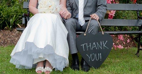 Lời cảm ơn sau tiệc cưới