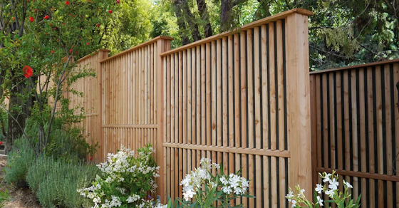Hình ảnh thiết kế hàng rào gỗ