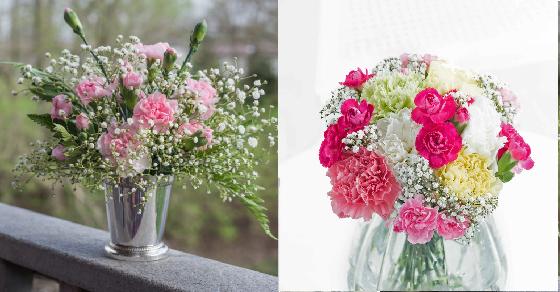 Kết quả hình ảnh cho cắm hoa cẩm chướng