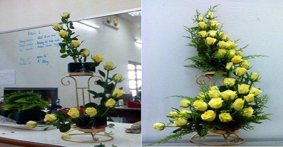 Nghệ thuật cắm hoa trong nhà thờ công giáo