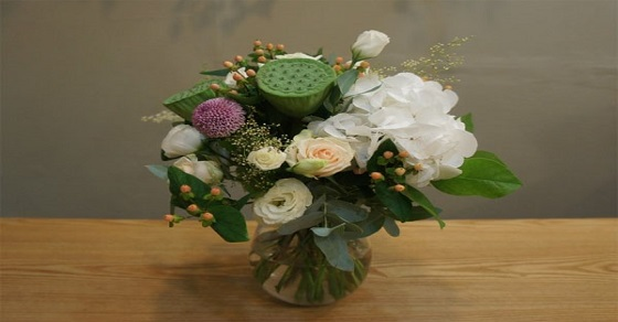 Cách cắm hoa sen trắng đẹp
