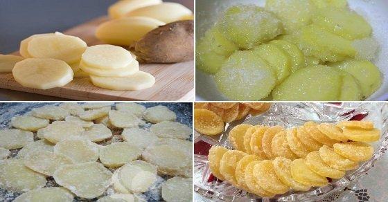Cách làm mứt khoai tây dẻo, giòn, ngon không sử dụng nước vôi trong