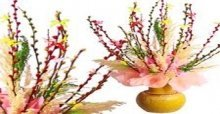 Hướng dẫn cách cắm bình hoa nụ tầm xuân ngày tết đẹp nhất