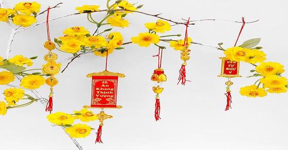 Hình ảnh trang trí cây mai ngày tết