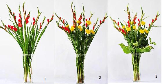 Cách và mẫu cắm hoa lay ơn trên bàn thờ đơn giản nhất