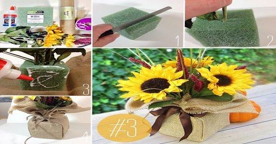 Cách cắm hoa hướng dương giấy