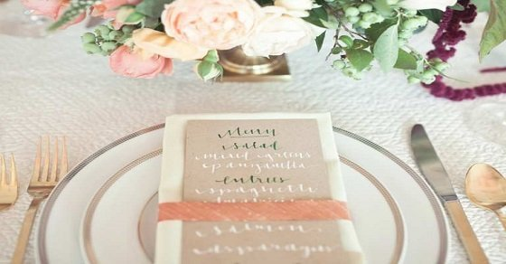 Các mẫu thực đơn đám cưới đẹp