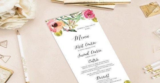 Mẫu thực đơn món ăn đám cưới