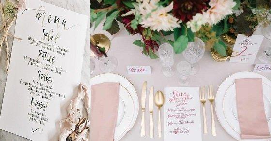 Các mẫu thực đơn đám cưới