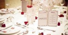 Các mẫu menu thực đơn tiệc cưới, đám cưới để bàn đẹp nhất