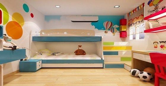 Trang trí phòng ngủ diện tích nhỏ hẹp cho bé