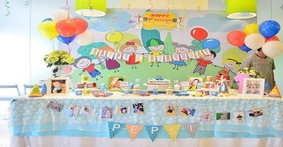 Cách trang trí tiệc sinh nhật cho bé trai tại nhà đơn giản