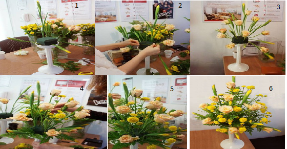 Phòng khách ngày Tết được trang trí với cách cắm lọ hoa cúc đẹp