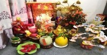 Cách bài trí bàn thờ ông địa - trang trí bàn thờ ông địa ngày tết đẹp