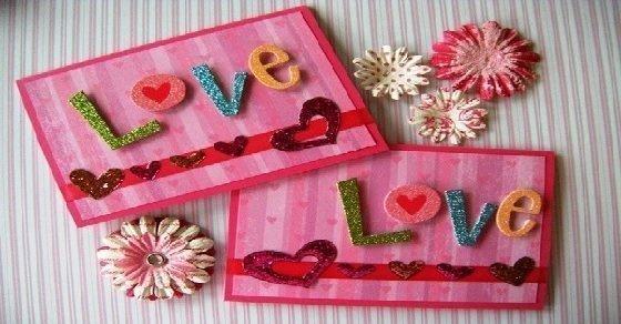 Trang trí bìa thiệp valentine cực đơn giản, nhanh gọn