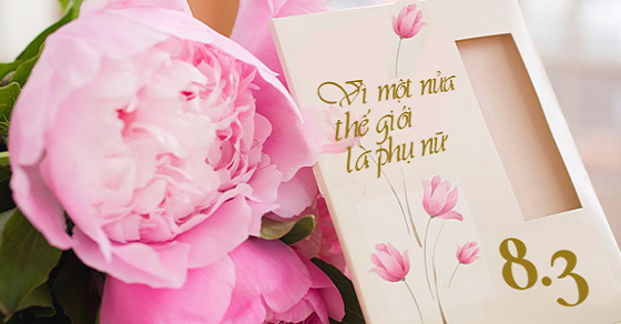 Giấy mời dự lễ kỷ niệm 8/3, giấy mời dự lễ kỷ niệm ngày 8/3