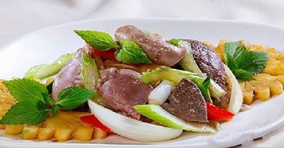 Món ăn từ gan lợn