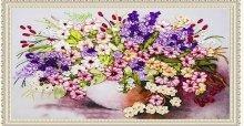 Hướng dẫn cách làm thêu tranh ruy băng bông hoa