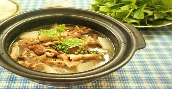 Cách nấu bao tử hầm tiêu xanh