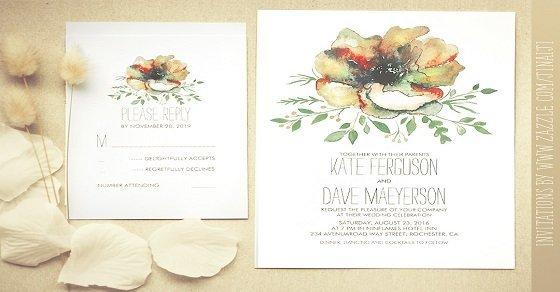 Thiệp cưới in hoa nhẹ nhàng và hiện đại