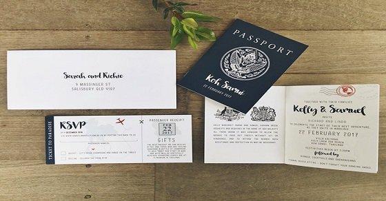 Thiệp cưới passport độc và đẹp nhất hiện nay